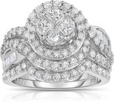 MODERN BRIDE Harmony Eternally in Love 2 CT. T.W. Diamond 10K White Gold Bridal Set