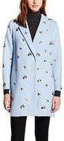 Almost Famous Women's Embellished Boyfriend Long Sleeve Coat