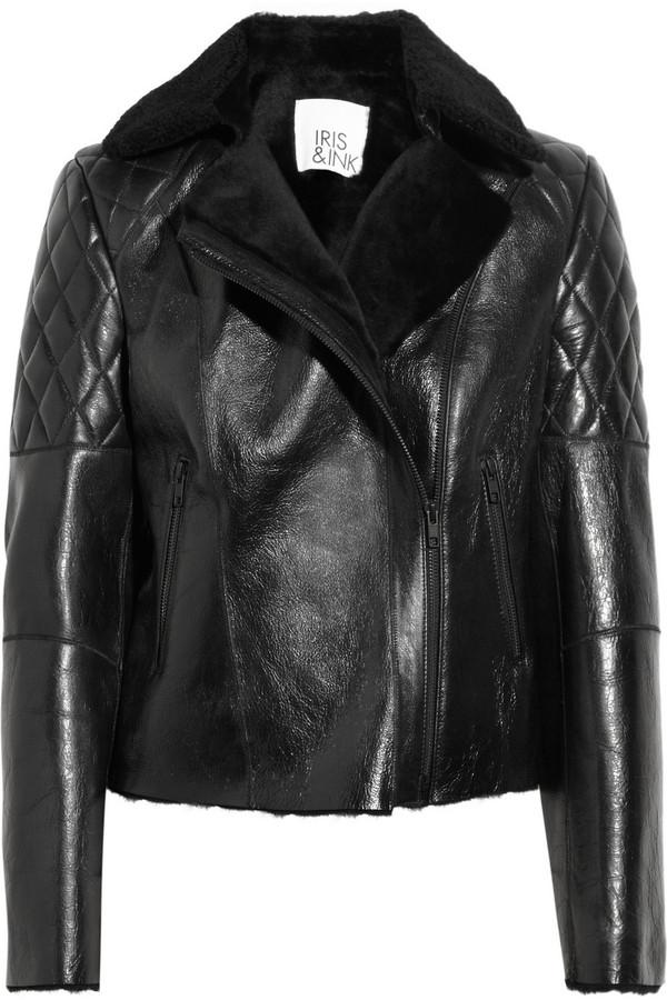 Iris & Ink Shearling biker jacket