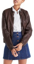 Madewell Women's Leather Bomber Jacket