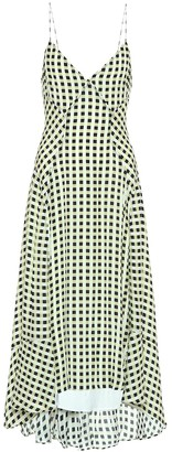 Proenza Schouler Checked georgette midi dress