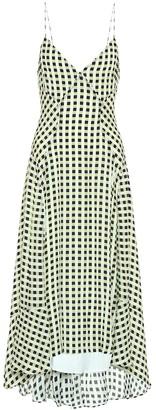 Proenza Schouler White Label Checked georgette midi dress