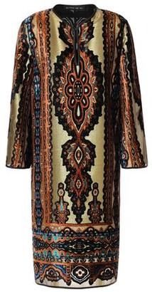 Etro Metallic Printed Devore-velvet Dress