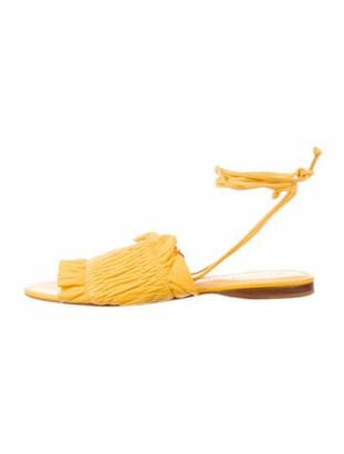 Mercedes Castillo Leather Sandals Yellow