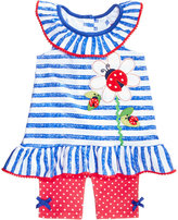 Nannette 2-Pc. Ladybugs Cotton Top & Shorts Set, Baby Girls (0-24 months)
