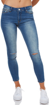 RES Denim Trashqueen Womens Crop Jean Blue