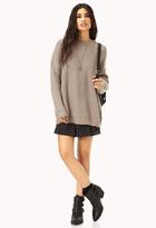 FOREVER 21 Mixed Knit Boyfriend Sweater