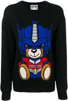Moschino Transformer Bear sweatshirt - women - Cotton/Virgin Wool - S