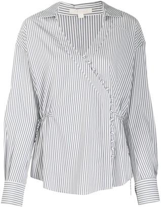 Jonathan Simkhai Striped Buttoned Blouse