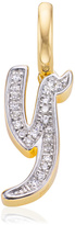 Monica Vinader Diamond Alphabet Pendant Y