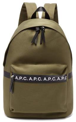 A.P.C. Savile Logo Cotton-blend Canvas Backpack - Mens - Khaki
