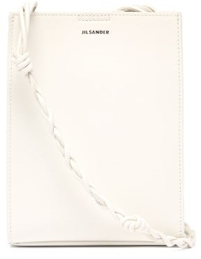 Jil Sander Tangle Knotted-strap Leather Cross-body Bag - White