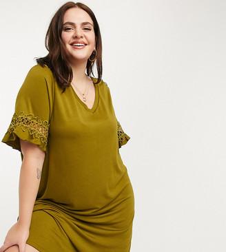 Junarose t-shirt dress in green