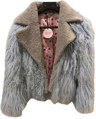 CHARLOTTE SIMONE Blue Mongolian Lamb Coats