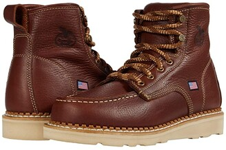 Georgia Boot USA Moc Toe Wedge (Brown) Men's Boots