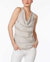 INC International Concepts Petite Embellished Cowl-Neck Sweater, Created for Macy's