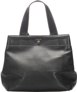 Chanel Black Caviar Leather Vintage Tote