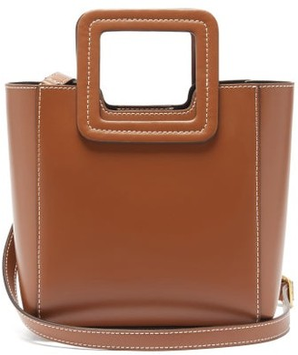 STAUD Shirley Mini Leather Shoulder Bag - Tan