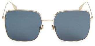 Christian Dior DiorStellaire1 Mirrored Square Sunglasses