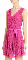 Luella Lace Dress In Deep Carnation