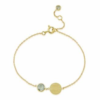 Auree Jewellery Bali 9Ct Gold March Birthstone Bracelet Blue Topaz