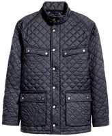 H&M Quilted Jacket - Dark blue - Men