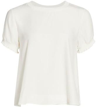 Cinq à Sept Lenny Silk Short-Sleeve Top