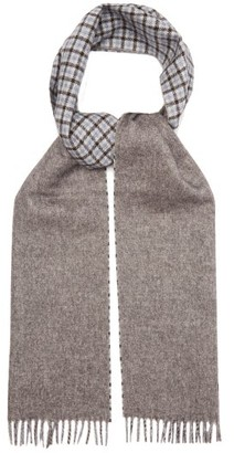 Prada Checked Silk-blend Scarf - Grey