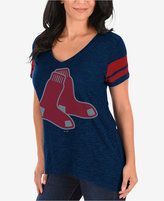 Profile Women's Boston Red Sox Check the Tape Plus Size T-Shirt