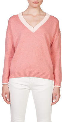 Skin and Threads Long Sleeve Cotton Chunky V Neck
