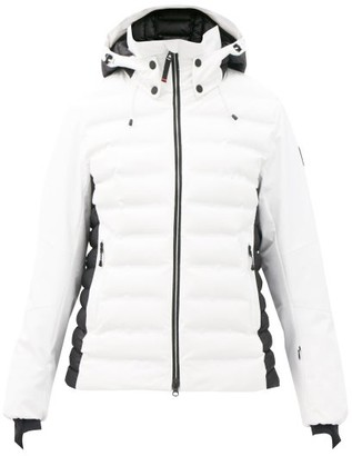 Bogner Fire & Ice Janka Hooded Quilted Soft-shell Ski Jacket - White Black