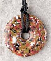 Teething Bling Donut Pendant - Brown