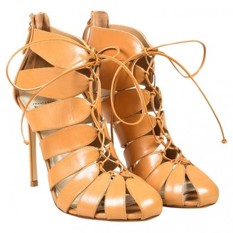 Francesco Russo Beige Leather Ankle boots