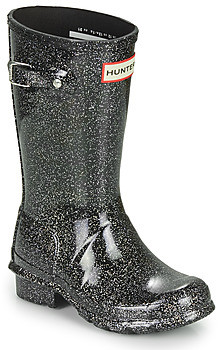 Hunter FIRST CLASSIC PULL-ON STARCLOUD girls's Wellington Boots in Black