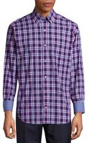 Tailorbyrd Regular-Fit Fitz Roy Check Cotton Sportshirt