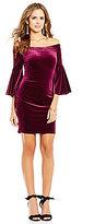 Gianni Bini Shiloh Off-The-Shoulder Bell Sleeve Velvet Dress
