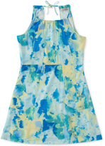 Calvin Klein Printed Halter Dress, Big Girls (7-16)