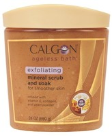 Calgon Ageless Bath Exfoliating Mineral Scrub and Soak for Smoother Skin - 24 oz