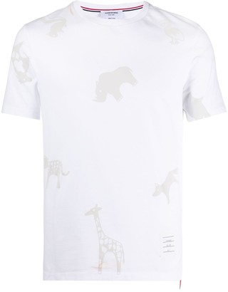 Thom Browne all over tonal icon print T-shirt