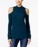 American Rag Crocheted Cold-Shoulder Top, Only at Macy's