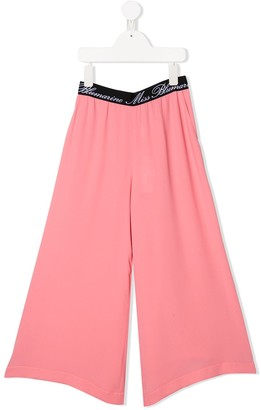 Miss Blumarine Logo Waistband Trousers