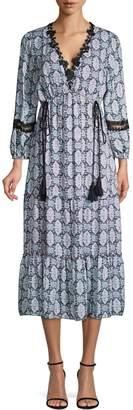 Kobi Halperin Silk Peasant Maxi Dress