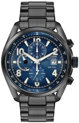 Citizen Men's Chandler Eco-Drive Chronograph Blue Dial Watch, 45mm