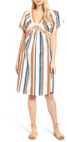 Moon River Women's Stripe Linen & Cotton Dress