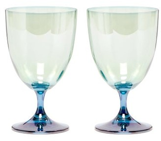 Luisa Beccaria Set Of Two Gradient Glasses - Green