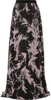 Giambattista Valli Lily Of The Valley Floral-Print Silk-Chiffon Maxi Skirt
