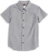 Tea Collection Mont Blanc Embroidered Dot Shirt (Toddler Boys)