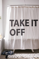 Urban Outfitters Take It Off Shower Curtain