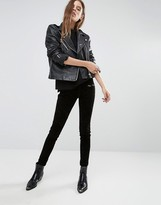 Blank NYC Suede Front Skinny Jeggings with Zip Pockets