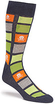 Daniel Cremieux Skulls In Squares Crew Dress Socks